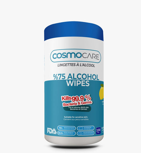 CosmoCare %75 Alcohol Wipes(Lemon) 100 pcs.