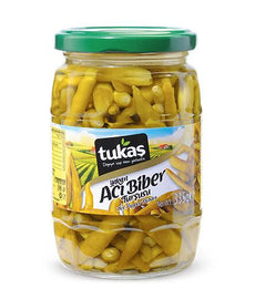 Tukaş Hot Pepper Pickles (Acı Biber Turşusu) - 335gr