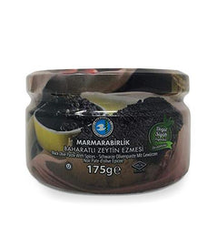 Marmarabirlik  Black Olive Spread with Seasoning (Baharatlı Zeytin Ezmesi)