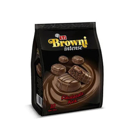 ETI BROWNI INTENSE MINI CHOCOLATE COATED - CREAM FILLED CAKE 160g