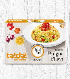 Tada Sebzeli Bulgur Pilavi (Bulgur Pilaff with Vegetables ) 200gr