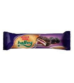 Ulker Halley Mini Karadutlu (Chocolate Covered Marshmallow Biscuit with Blackberry)