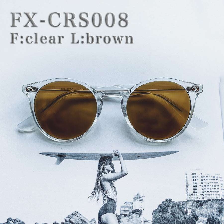 [4 color] classic round clear sunglasses