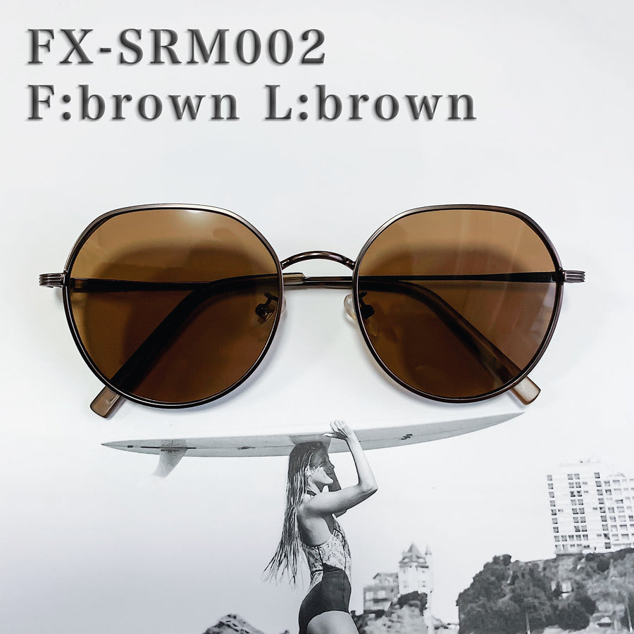[4 color] square round metal sunglasses