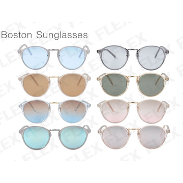 [8 color] boston sunglasses (clear frame)