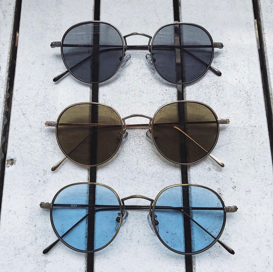 【6color】antique round metal sunglasses