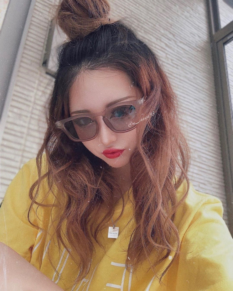 【4color】square frame sunglasses