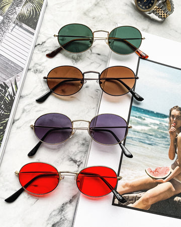 [4 color] oval sunglasses