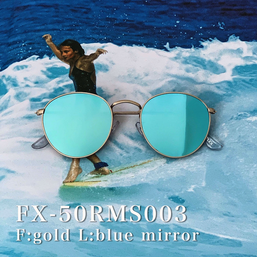 【4color】round metal mirror sunglasses(53mm)