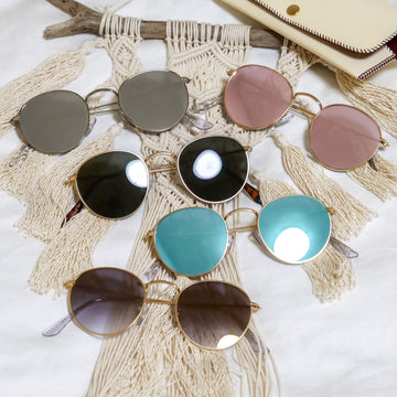 【5color】round  metal sunglasses(50mm)