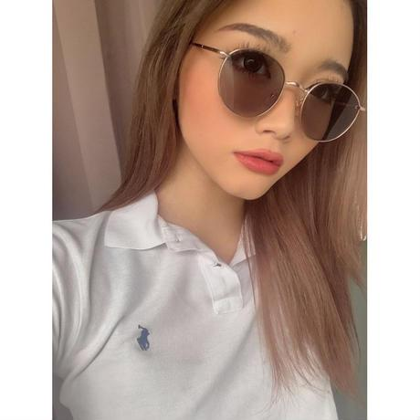 [4 color] classic round metal sunglasses