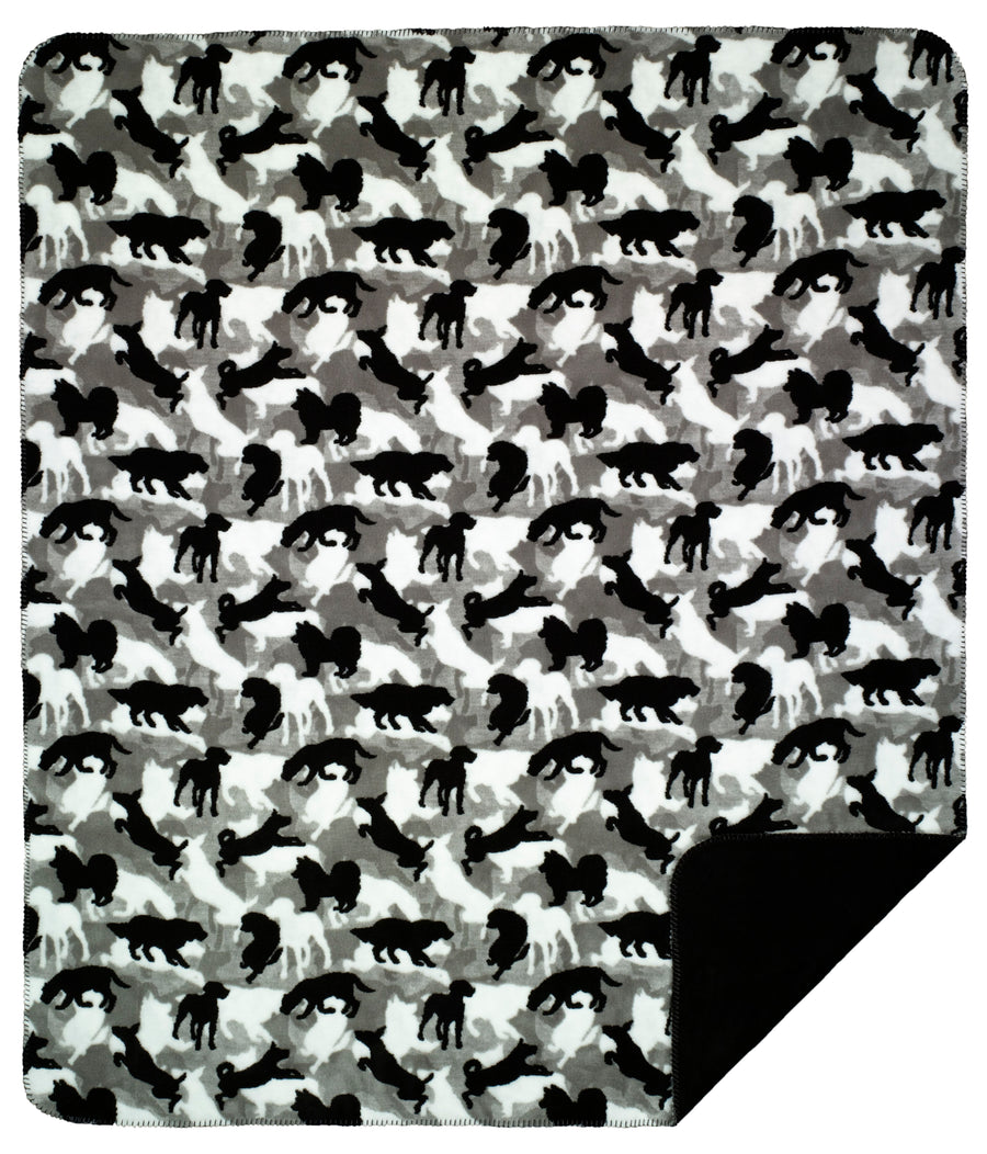 Denali Blanket Black & White (Animal) -  Free Shipping