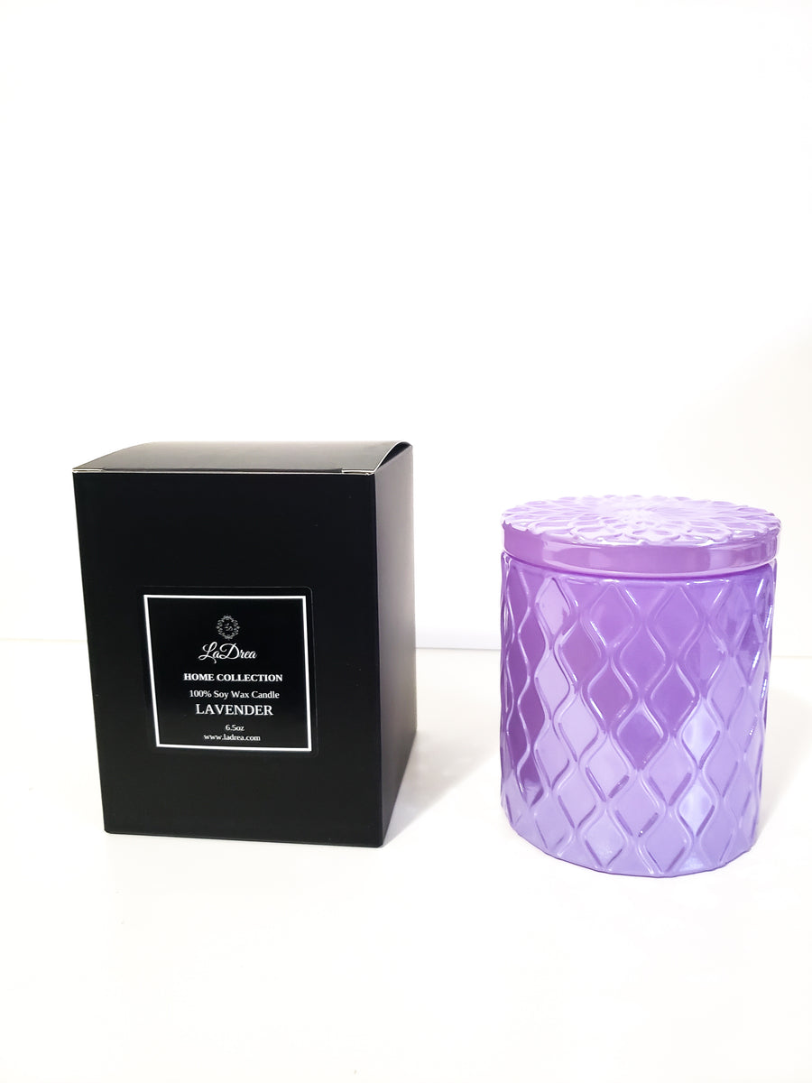 LaDrea Home Collection Scented Soy Candle - Lavender