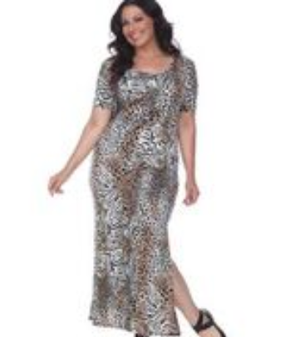 Animal Print Dress- Plus Size $59.99 - ladreaboutique