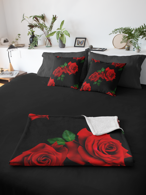 LaDrea Originals Blanket - Black & Rose (Free Shipping)