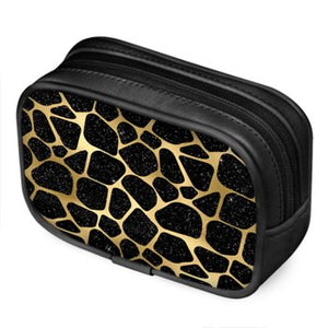 LaDrea Luxe Leather Collection - Cosmetic Bag (Leopard Print)