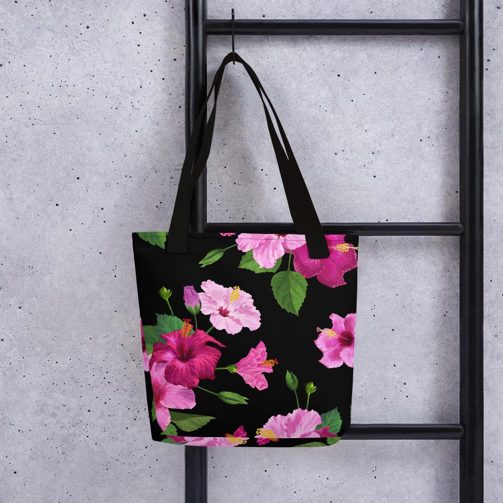 Tote Bag- LaDrea Originals Black Floral