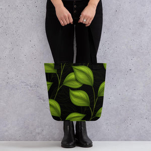 Tote bag- Black & Green Leaf LaDrea Originals