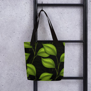 Tote bag- Green Leaf LaDrea Originals - ladreaboutique