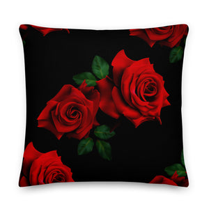 LaDrea Originals Pillow - Black & Rose (Free Shipping) - ladreaboutique