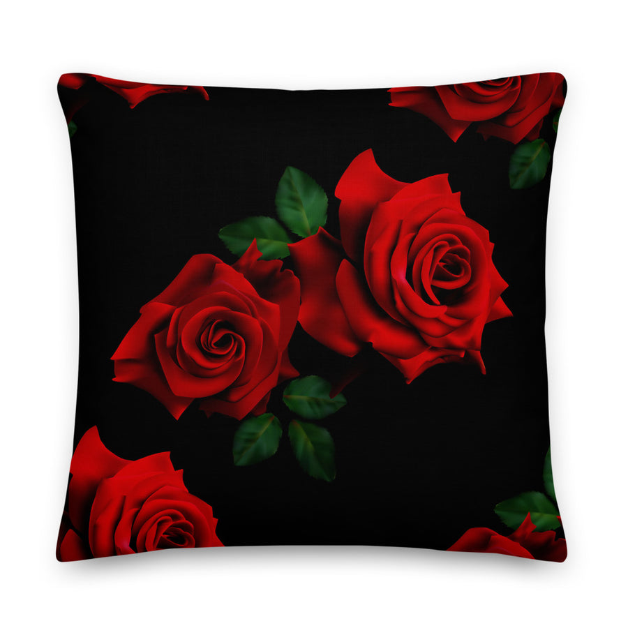 LaDrea Originals Pillow - Black & Rose