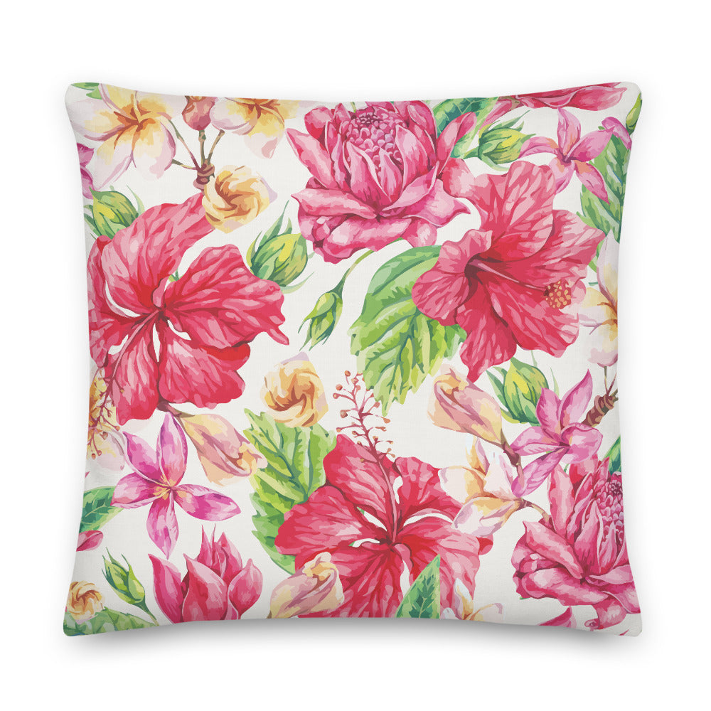 LaDrea Originals Pillow- White Floral