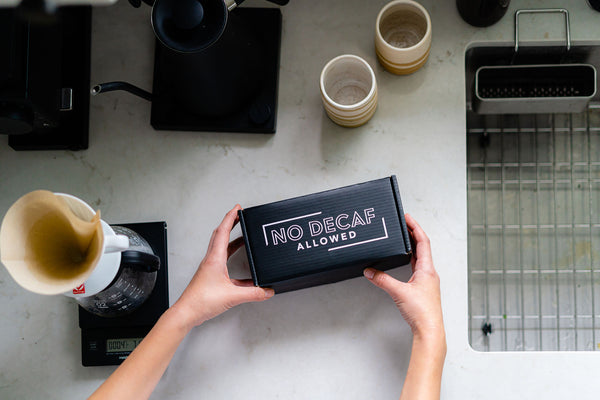 no decaf allowed coffee subscription box