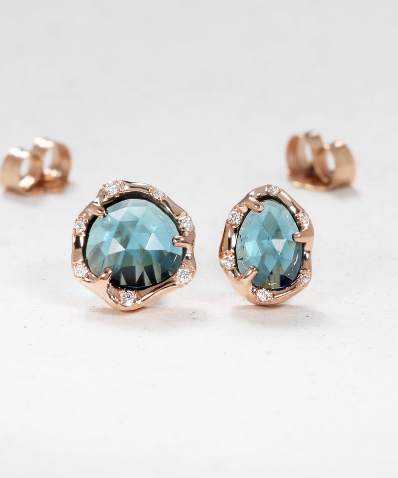 Blue Tourmaline Drop Earrings