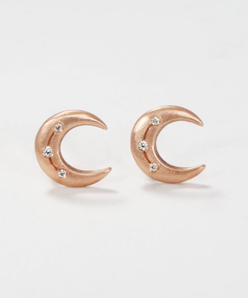 Crescent Disc Earrings