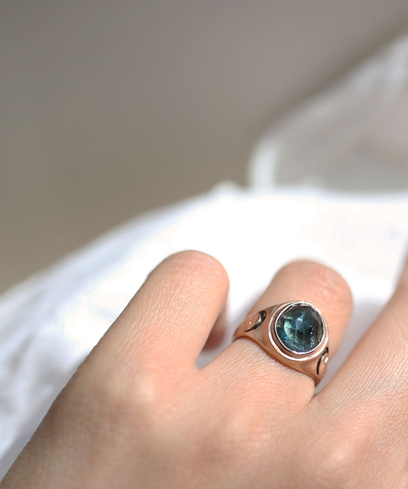 Double Moon Signet Ring