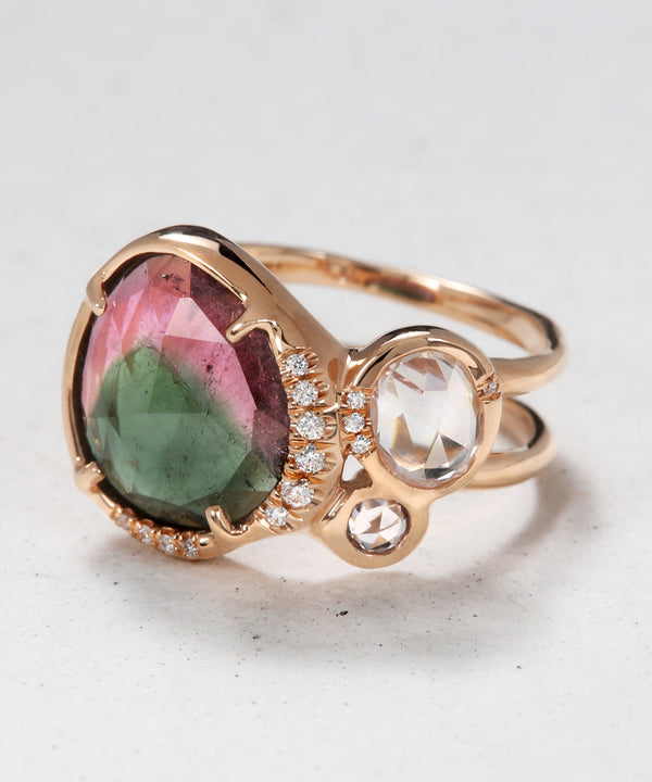 Mana Ring with Watermelon Tourmaline