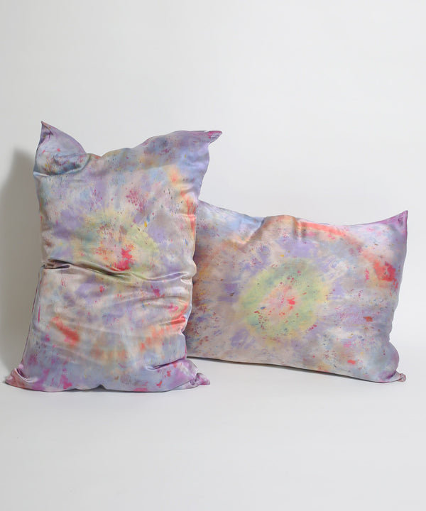Hand Dyed Silk Pillowcase Set in Lunar