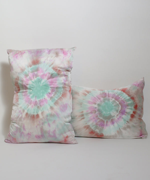 Hand Dyed Silk Pillowcase Set in Dragonfly