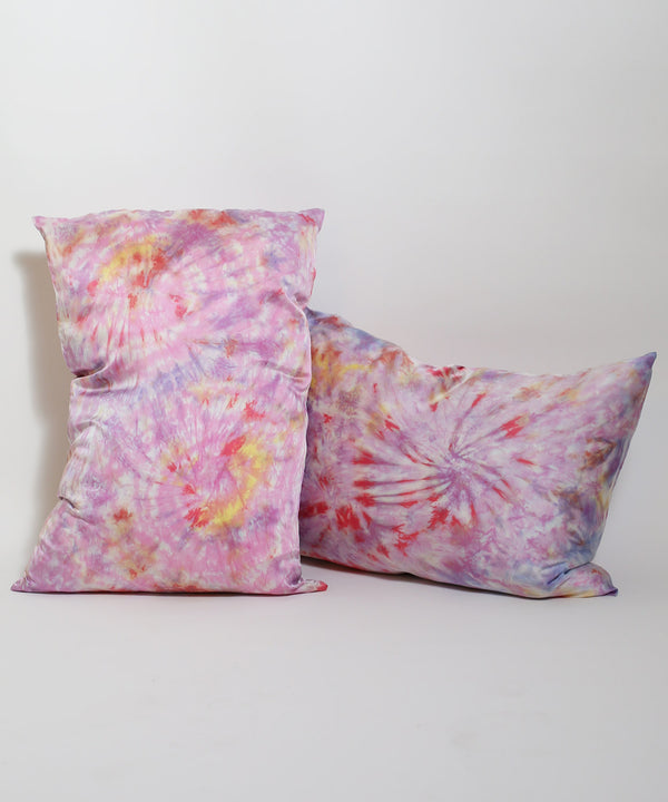 Hand Dyed Silk Pillowcase Set in Kaleidoscope