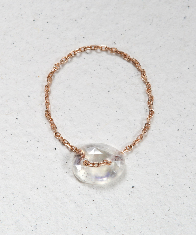 Moonstone Chain Ring
