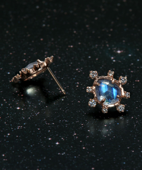 Moonstone Burst Earrings