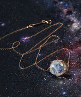 Moonstone Moon Phase Necklace