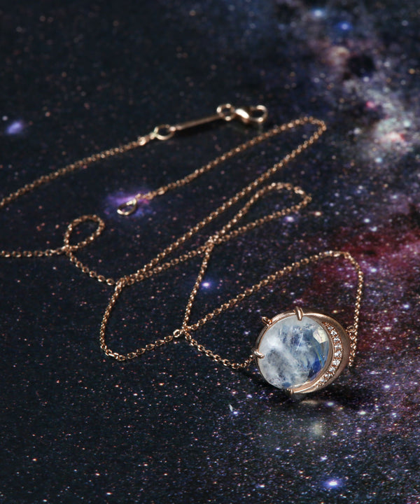 Rainbow Moon Phase Necklace