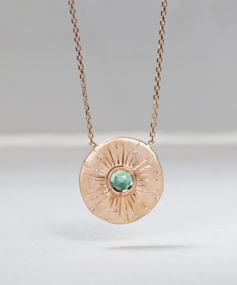 Etched Sea Disc Necklace