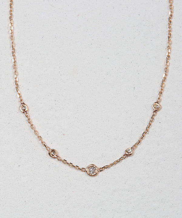 Rose Cut Diamond Necklace