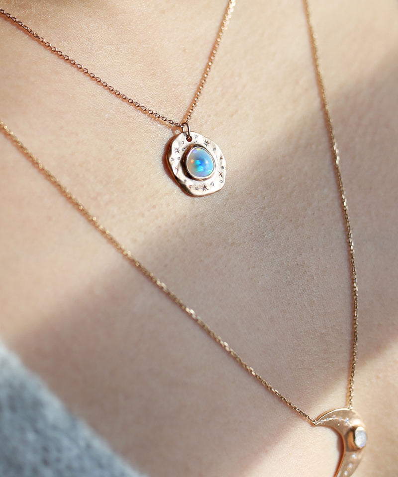 Star Splash Opal Necklace