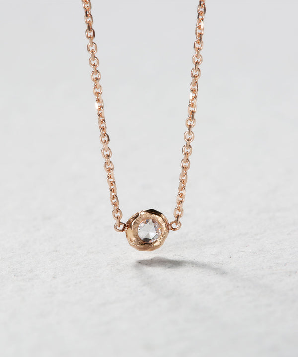 Tiny Rose Cut Diamond Necklace