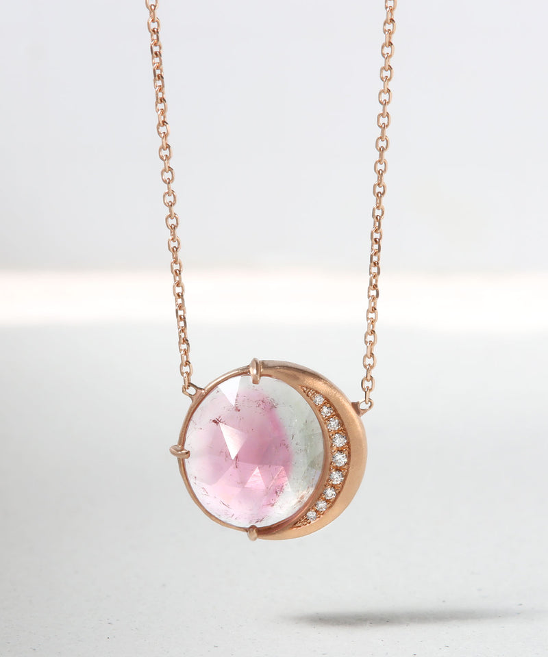 Watermelon Moon Phase Necklace