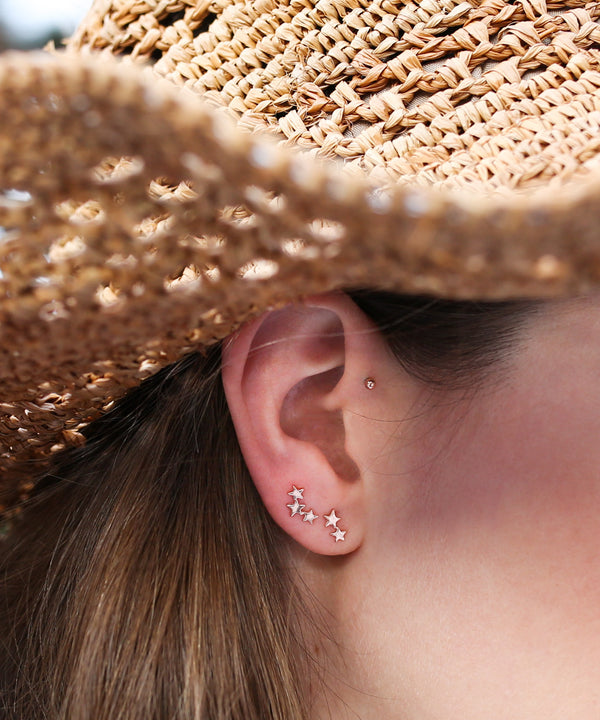 Three Twinkling Star Earring