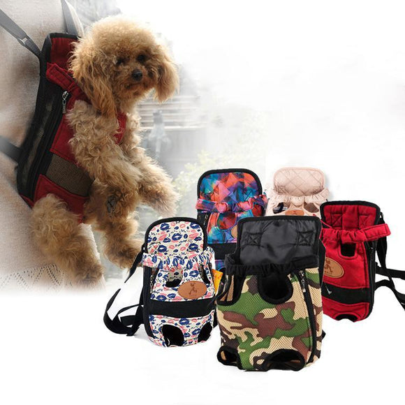 Pet Carrier Backpack Mesh Outdoor Breathable Shoulder Handle Bags for Small Dogs Or Cats