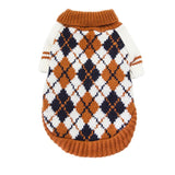 Dog Argyle Pattern Knit Pullover Jumper Sweater For Fall