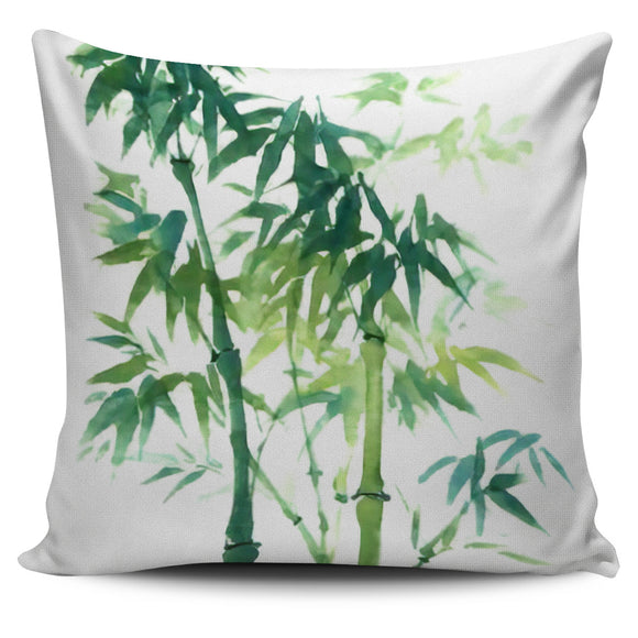 Painted Bamboo Bed Throw Or Couch Pillow Cover