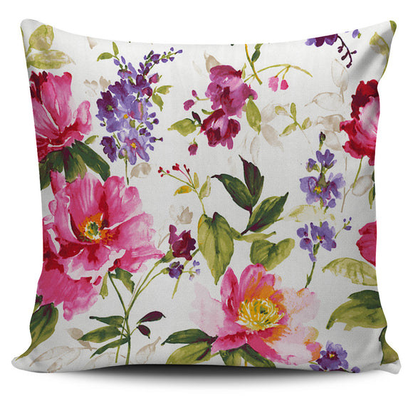 Fresh Cut Summer Flowers Bed Throw Or Couch Pillow Cover