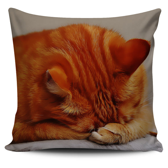 Ginger Cat Bed Throw Or Couch Pillow Cover