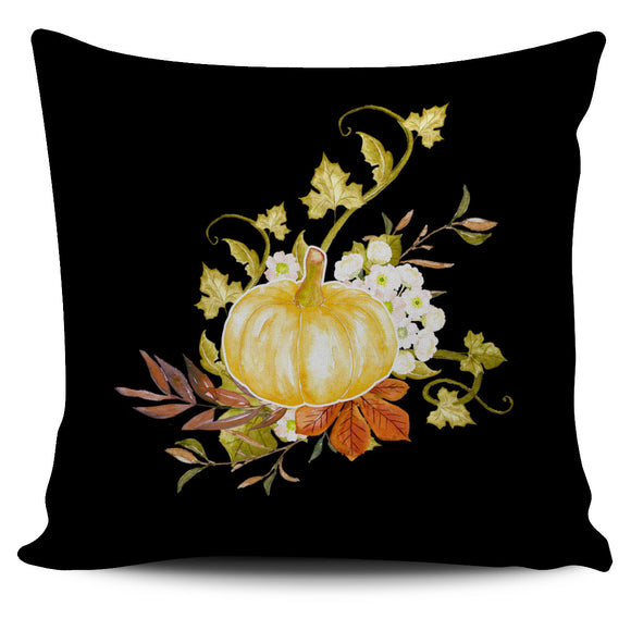 Fall Watercolor Pumpkin Bed Or Couch Throw Pillow Covers For Fall Home Decor